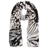 Windsmoor Butterfly Print Scarf Oyster Black