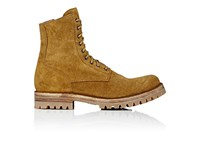 Officine Creative Men's Suede Lace Up Ankle Boots Tan