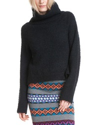 Plenty By Tracy Reese Slouchy Turtleneck Sweater Black
