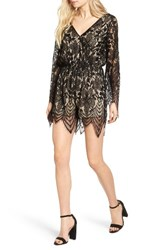 Fire Women's Bell Sleeve Lace Romper