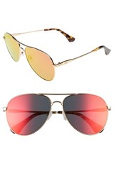Sonix Women's Lodi 62Mm Mirrored Aviator Sunglasses Revo Mirror Gold