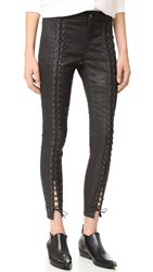 Pam And Gela Coated Sateen Lace Up Jeans