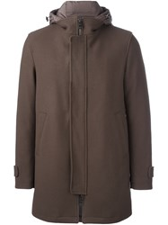 Herno Single Breasted Coat Brown
