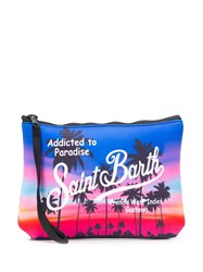 Mc2 Saint Barth Sunset Palm Wash Bag Blue