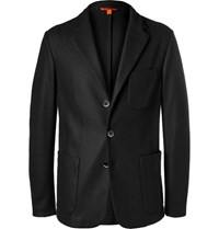 Barena Black Slim Fit Stretch Virgin Wool Blazer Black