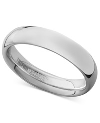 Triton Men's White Tungsten Carbide Ring Dome Wedding Band 5Mm
