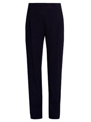 Vince Slim Leg Waffle Knit Trousers Navy