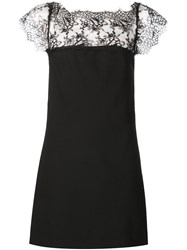 Plein Sud Jeans Plein Sud Boat Neck Floral Lace Pattern Mini Dress Black