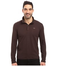 Calvin Klein Long Sleeve Solid Sz Mock Neck Espresso Men's Clothing Brown