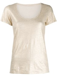 Majestic Filatures Shimmer T Shirt Gold