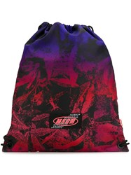 Msgm Logo Patch Backpack Purple