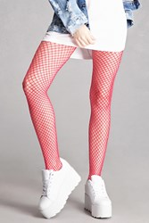 Forever 21 Leg Avenue Pink Fishnet Tights Neon Pink