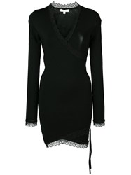 Jonathan Simkhai Fitted V Neck Dress Black