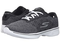 Skechers Go Walk 4 Exceed Black White Women's Lace Up Casual Shoes