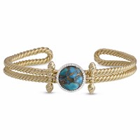Lmj Golden Rays Cuff Blue Gold