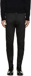 Lanvin Black Fitted Biker Trousers
