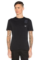 Fred Perry X Raf Simons Denim Pocket Tee Black
