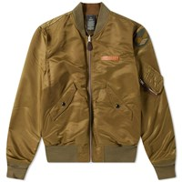 Rrl Lawson L 2A Reversible Bomber Jacket Green