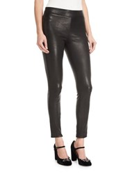 Elizabeth And James Pull One Stretch Leather Leggings Black