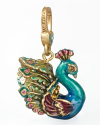Peacock Charm Jay Strongwater