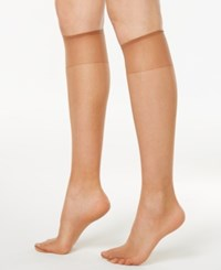 Hanes Silk Reflections Knee Highs Sheers 725 Barely There