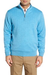 Men's Bobby Jones Windproof Merino Wool Quarter Zip Sweater Lunar