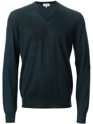 Faconnable Faconnable V Neck Sweater Blue