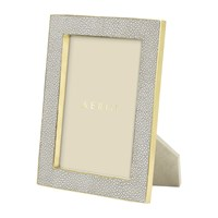 Aerin Dove Shagreen Frame 5X7 Grey