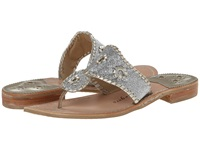 Jack Rogers Sparkle Silver Platinum Women's Sandals Metallic