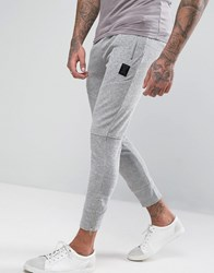 Religion Joggers In Towelling Grey Marl