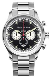 Men's Jack Mason Brand Nautical Chronograph Bracelet Watch 42Mm Black Silver