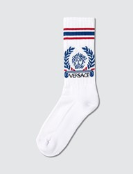 Versace Laurel Logo Sport Socks Blue