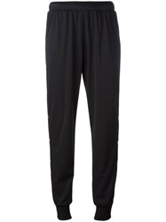 Marios Buttoned Lateral Cropped Trousers Black