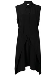 Christian Wijnants Sleeveless Dress Women Silk Crepe 44 Black