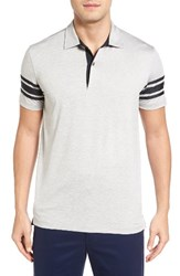 Bobby Jones Men's Liberty Tech Golf Polo Heather Grey