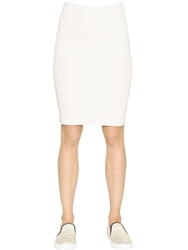 Gentryportofino Stretch Cotton Knit Pencil Skirt Beige
