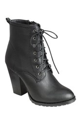 Refresh Laura Lace Up Bootie Black