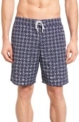 Lacoste Men's Houndstooth Swim Trunks