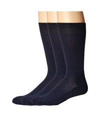 Smartwool New Classic Rib 3 Pair Pack Navy Navy Navy Crew Cut Socks Shoes