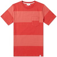 Norse Projects Johannes Block Stripe Tee Red