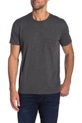 7 For All Mankind Short Sleeve Crew Neck Tee Hea Charcl