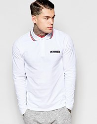 Ellesse Long Sleeve Polo Shirt White