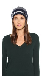 Tory Burch Striped Hat Tory Navy Multi