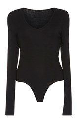 Atm Anthony Thomas Melillo Long Sleeve Bodysuit Black