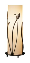 Hubbardton Forge Forged Leaves Table Lamp Natural Iron Opal Gray