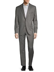 Jack Victor Esprit Buttoned Wool Suit Grey