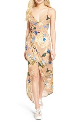 Astr The Label Women's Penelope Surplice Maxi Dress Paradise Floral