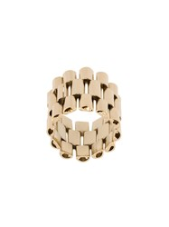 Krizia Wide Chain Ring Metallic