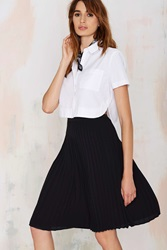 Nasty Gal Piccadilly Pleated Skirt