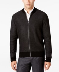 Ryan Seacrest Distinction Men's Textured Baseball Jacket Only At Macy's Black